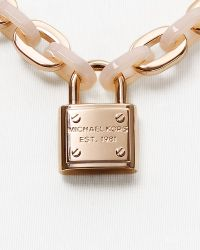 "Michael Kors Padlock Toggle Necklace, 18"" - Lyst"