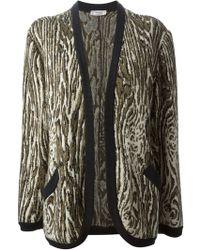 Yves Saint Laurent Vintage Patterned Cardigan - Lyst
