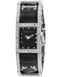 Christian Lacroix - Women's Black Ceramic And Dial Crystal Accents - Lyst