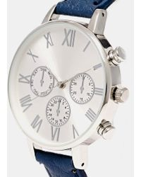 Asos Large Dial Face Watch - Lyst