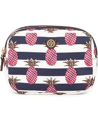 Tory Burch Printed Nylon Small Double Cosmetics Case - Lyst