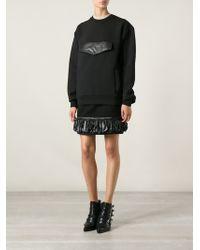 Christopher Kane Black Oversizedpocket Sweatshirt - Lyst