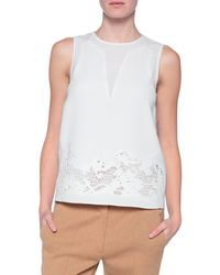 Tibi Crochet Embroidered Top - Lyst