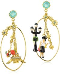 Les Nereides - Paris Mon Amour Drop Earrings - Lyst