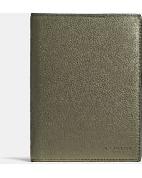 Coach | gray Passport Case In Refined Pebble Leather | Lyst