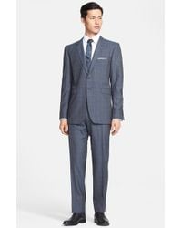 Burberry London 'Millbank' Trim Fit Prince Of Wales Wool & Cashmere Suit - Lyst