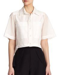 Parker Mayer Cropped Cotton Shirt - Lyst