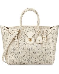 Pink Pony - Soft Ricky 33 Lace-cut Leather Satchel Bag - Lyst