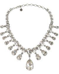 Tom Binns - Madam Dumont Rhodium-Plated Swarovski Crystal Necklace - Lyst