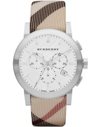 Burberry Mens Chronograph Watch with Nova Check Strap - Lyst