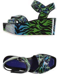 Kenzo Green Sandals - Lyst