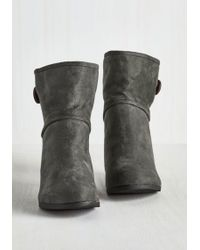 Shoe Magnate Inc - What's Inside That Counts Bootie In Charcoal - Lyst