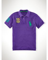 Polo Ralph Lauren Slim-fit Big Pony Crest Polo - Lyst