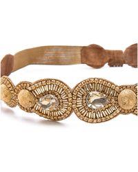 Deepa Gurnani - Dome Crystal Belt Gold - Lyst