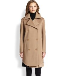Akris Punto Wool Double-Breasted Coat - Lyst