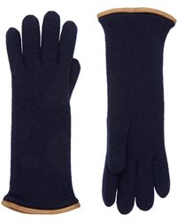 Barneys New York | Leather-trimmed Cashmere Gloves | Lyst