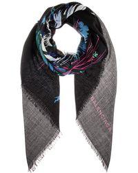 Balenciaga Printed Silk and Woolblend Scarf - Lyst