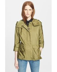 Burberry Brit 'Maidleigh' Hooded Roll Sleeve Jacket - Lyst