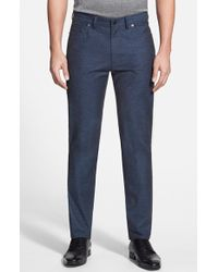 Vince Camuto - Sraight Leg Five Pocket Stretch Jeans - Lyst