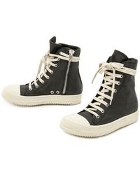 DRKSHDW by Rick Owens - Ramones High Top Trainers Black - Lyst