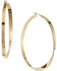 Kenneth Jay Lane 22K Gold-Plated Twisted Hoop Earrings - Lyst