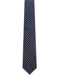 Lanvin Oragami Silk Tie Navy - Lyst