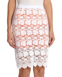 Rebecca Minkoff Angelica Lace Pencil Skirt - Lyst