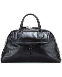 Bottega Veneta Karung Micro Intrecciato Leather Satchel - Lyst