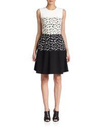 Narciso Rodriguez Jacquard Paneled Dress white - Lyst