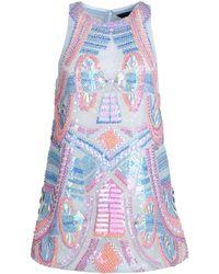 Manish Arora Short Dress blue - Lyst