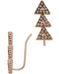House Of Harlow Tessallation Ear Crawlers - Rose Gold - Lyst