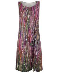 Paul Smith Grey Marl 'Country Walk' Print Jersey Dress - Lyst