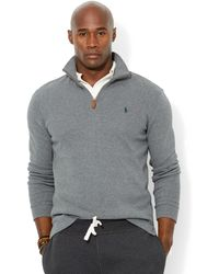 Polo Ralph Lauren Big and Tall Half-zip French-rib Pullover - Lyst