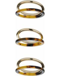 TOPSHOP - Tortoise Gold Multi-ring Pack - Lyst