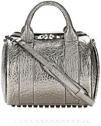 Alexander Wang Rockie Sling in Pebbled Carbon with Rhodium - Lyst