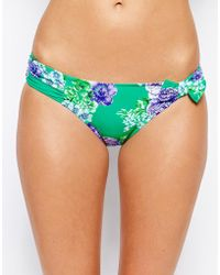 Seafolly Rococo Rose Ruched Side Bikini Bottoms - Lyst