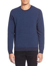 Calibrate - 'ottoman Stripe' Trim Fit Crewneck Sweater - Lyst