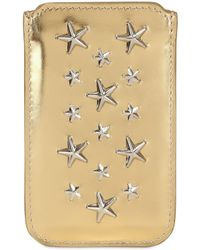 Jimmy Choo | Trent Mirror Leather Iphone 4 Case | Lyst