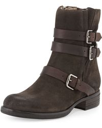 Alberto Fermani Triumvirate Suede Ankle Boot - Lyst