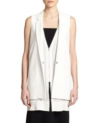 Elizabeth And James Aster Double-Layer Vest white - Lyst
