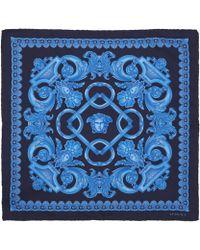 Versace Blue Classic Baroque Print Silk Scarf - Lyst