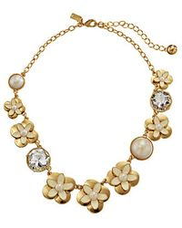 Kate Spade Window Seat Bouquet Graduated Necklace - Lyst