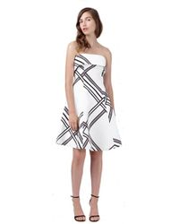 Keepsake Keepsake City Of Lights Mini Dress In Ivory Woven Check white - Lyst