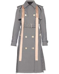 Undercover - Removable-sleeved Hound's-tooth Print Trench Coat - Lyst