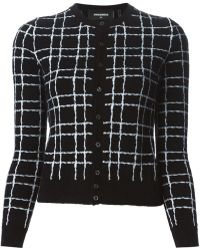 DSquared2 Checked Cardigan - Lyst