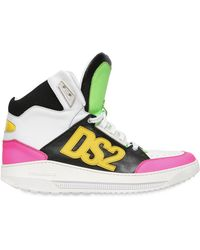 DSquared² Ds2 Leather High Top Sneakers - Lyst