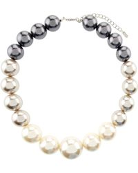Hobbs - Lou Pearl Necklace - Lyst