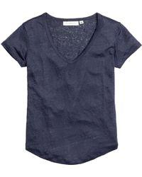 H&M Top In Linen Jersey - Lyst