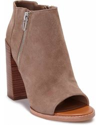 Dolce Vita Mercy Suede Open-Toe Ankle Boots - Lyst