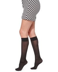 Wolford Tippi Knee Highs - Lyst